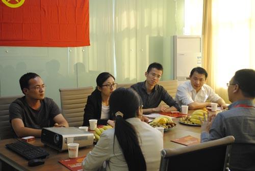 2012年10月18日金华市各地区团委书记来公司考察